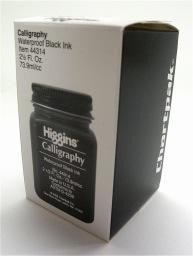 Calligraphy, Waterproof Black Ink, Higgins, 2.5oz
