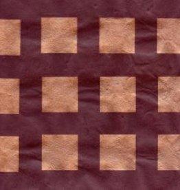 "Nepal Lokta Squares, Copper on Chocolate, 20"" x 30"""