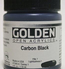 Golden OPEN, Acrylic Paint, Carbon Black, Series 1, Jar (4fl.oz.)