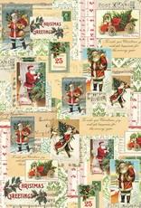 "Italy Cavallini Print, Santa Collage, 20"" x 28"""