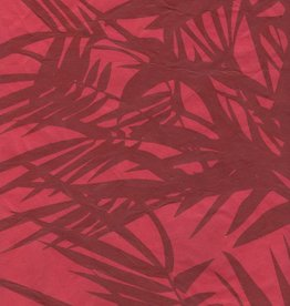 Nepal Lokta Bamboo Red, 20&quot; x 30&quot;<br />