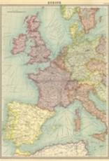 "Italy Cavallini Print, Europe Map, 20"" x 28"""