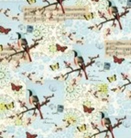 "Italy Cavallini Print, Flora & Fauna Bird 20"" x 28"""