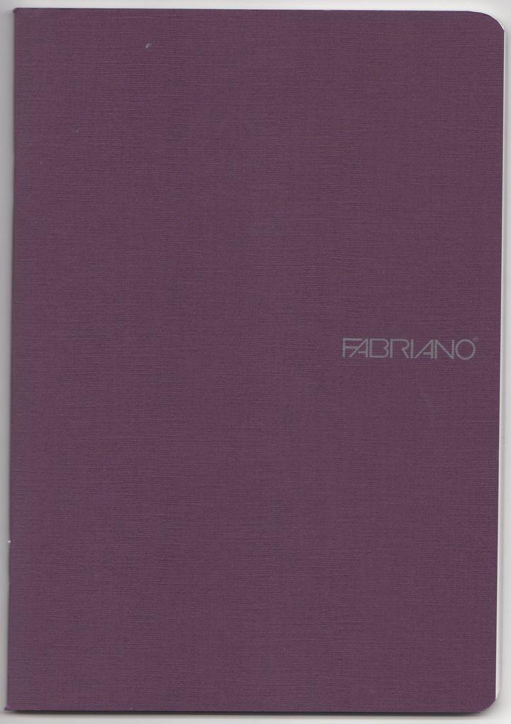 """Italy Fabriano EcoQua Blank Notebook, Wine, 5.75"""" x 8.25"""", 40 Sheets"""