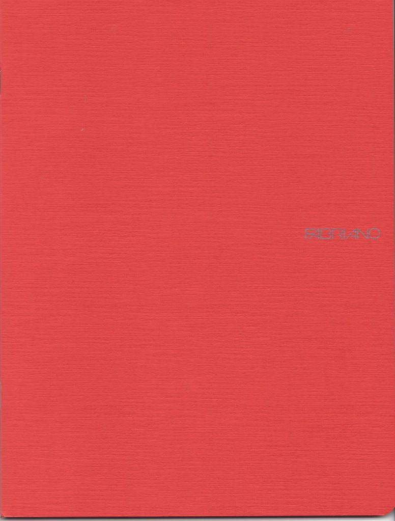 "Italy EcoQua Blank Notebook, Raspberry, 8.25"" x 11.5"", 40 Sheets"