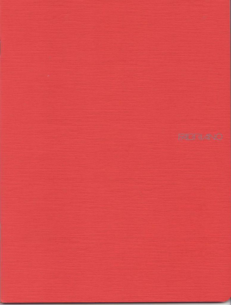 "Italy Fabriano EcoQua Blank Notebook, Raspberry, 8.25"" x 11.5"", 40 Sheets"