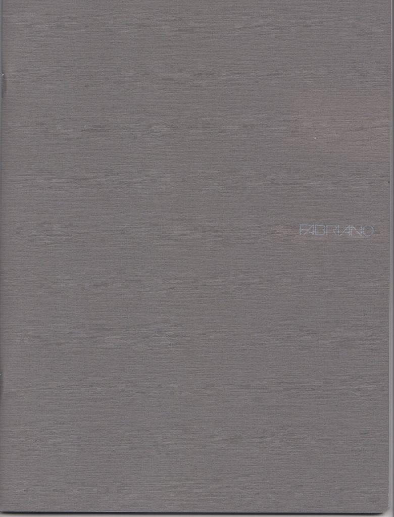 """Italy Fabriano EcoQua Blank Notebook, Grey, 8.25"""" x 11.5"""" 40 Sheets"""