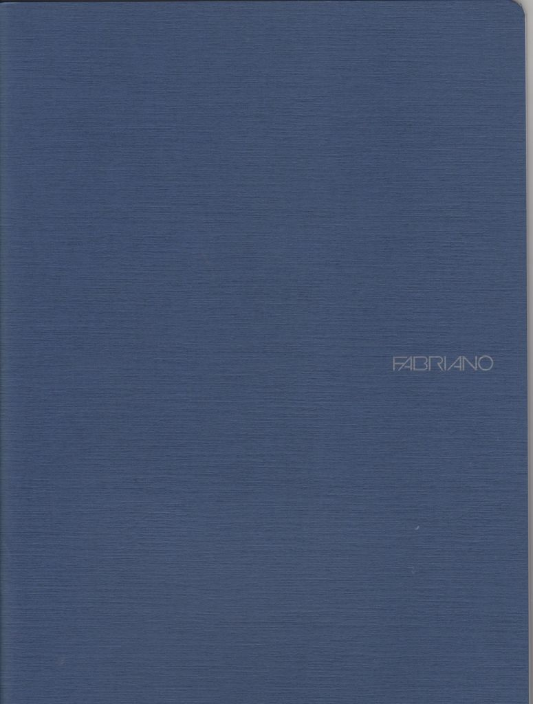 "Italy EcoQua Blank Notebook, Navy, 8.25"" x 11.5"", 40 Sheets"