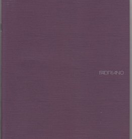 "Italy Fabriano EcoQua Blank Notebook, Wine, 8.25"" x 11.5"", 40 Sheets"