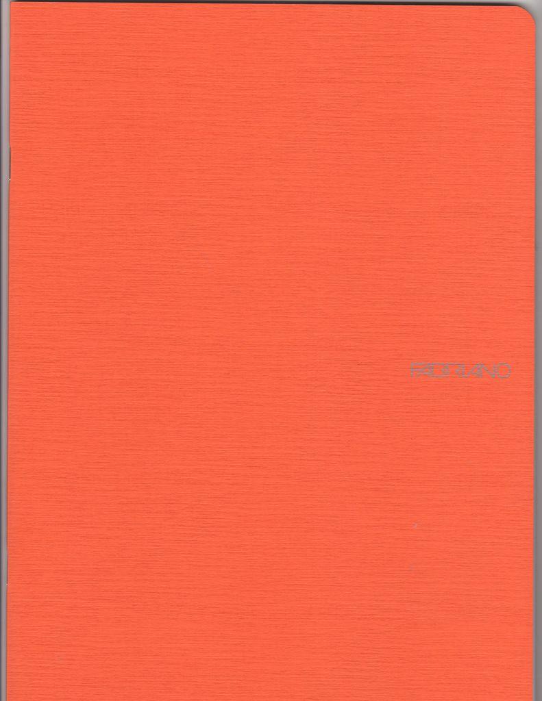 "EcoQua Blank Notebook, Orange, 8.25"" x 11.5"", 40 Sheets"