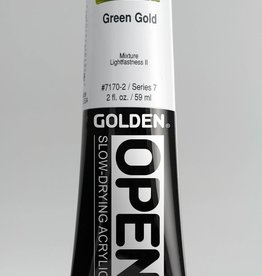 Golden OPEN, Acrylic Paint, Green Gold, Series 7, Tube (2fl.oz.)