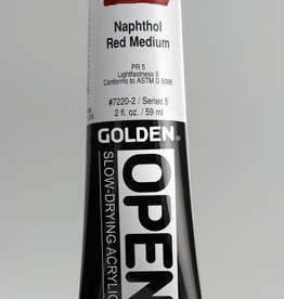 Golden OPEN, Acrylic Paint, Naphthol Red Medium, Series 5, Tube (2fl.oz.)