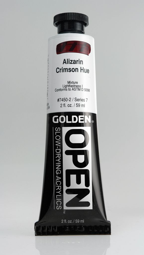 Golden OPEN, Acrylic Paint, Alizarin Crimson Hue, Series 7, Tube (2fl.oz.)