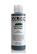 Golden Fluid Acrylic Paint, Phthalo Green (Blue Shade), Series 4, 4fl.oz, Bottle