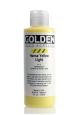 Golden Fluid Acrylic Paint, Hansa Yellow Light, Series 3, 4fl.oz, Bottle