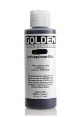 Golden Fluid Acrylic Paint, Anthraquinone Blue, Series 7, 4fl.oz, Bottle