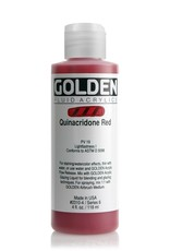 Golden Fluid Acrylic Paint, Quinacridone Red, Series 6, 4fl.oz, Bottle