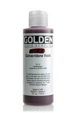 Golden Fluid Acrylic Paint, Quinacridone Violet, Series 6, 4fl.oz, Bottle