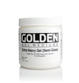 Golden, Extra Heavy Gel Medium, Semi-Gloss, 8oz Jar