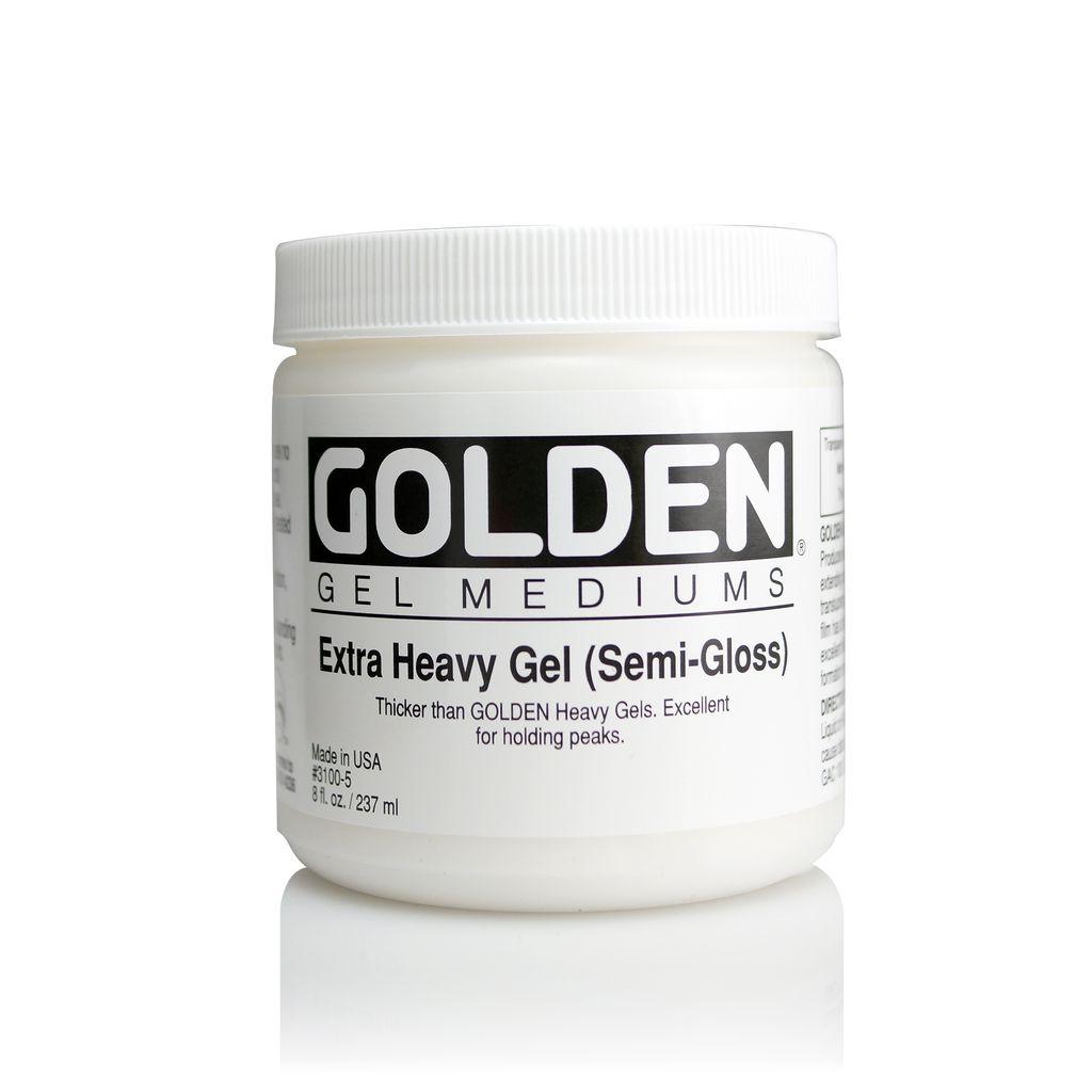 Golden, Extra Heavy Gel Medium, Semi-Gloss, 8oz Jar