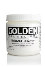 Golden, High Solid Gel Medium, Gloss, 8 oz Jar
