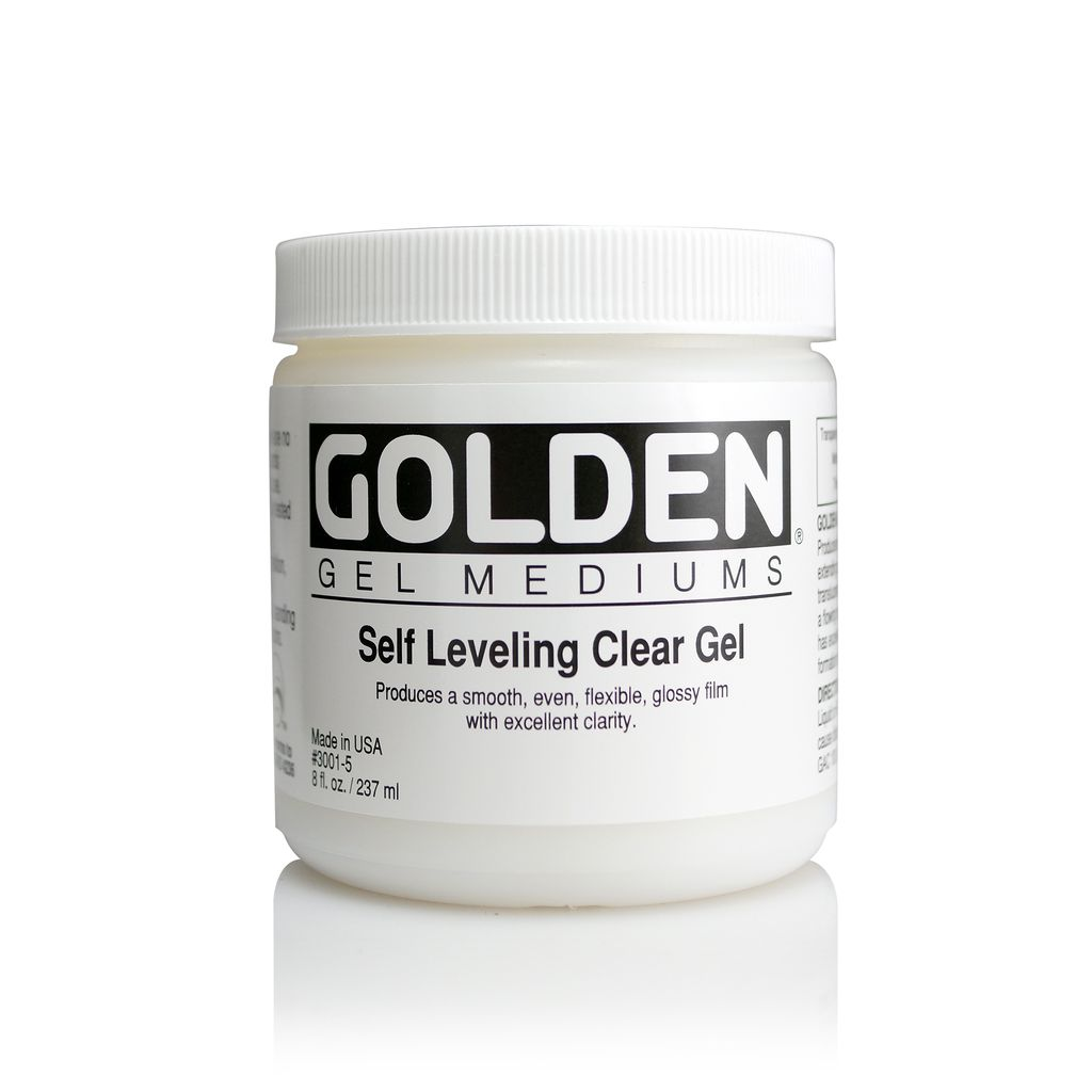 Golden, Self Leveling Clear Gel, Medium  8 oz Jar
