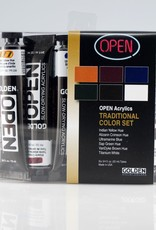 Golden OPEN Acrylics, Traditional Color Set
