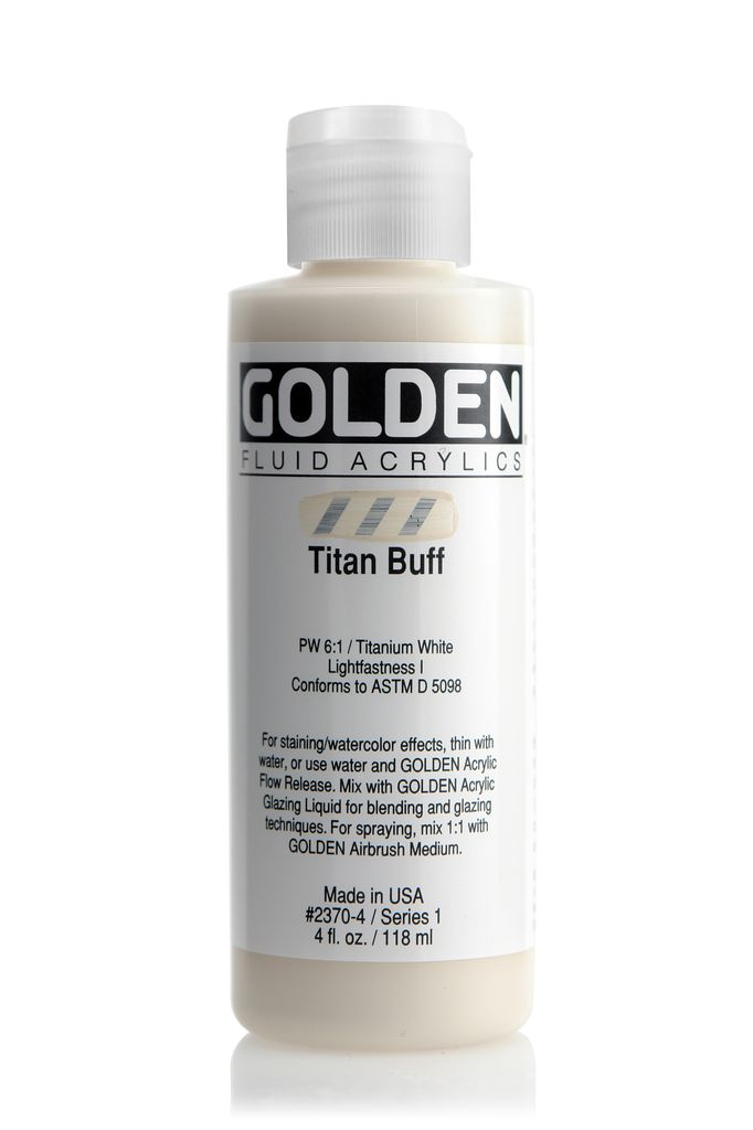 Golden Fluid Acrylic Paint, Titan Buff, Series 1, 4fl.oz, Bottle