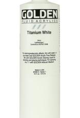 Golden Fluid Acrylic Paint, Titanium White, Series 1, 16 Fl Oz. Bottle