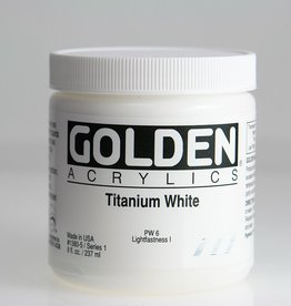 Golden, Heavy Body Acrylic Paint, Titanium White, Series 1,  8fl.oz. Jar