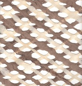 "Mexico Amate Lattice Brown/Natural, 15"" x 23"""
