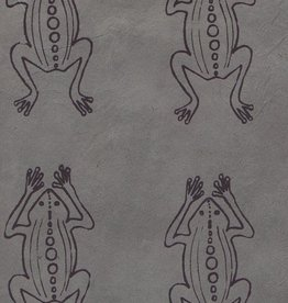 "Nepal Lokta Frogs on Grey, 20"" x 30"""
