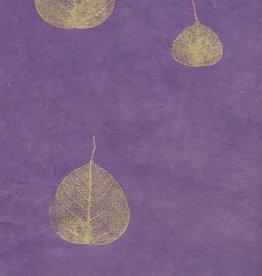 "Nepal Lokta Bodhi Leaves Purple, 20"" x 30"""