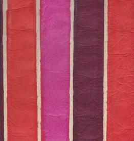 "Nepal Lokta Batik Stripe Sunset, 20"" x 30"""