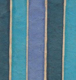 "Nepal Lokta Batik Stripe Sky, 20"" x 30"""