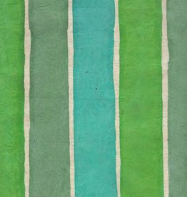 """Nepal Lokta Batik Stripe Sea, 20"""" x 30"""""""