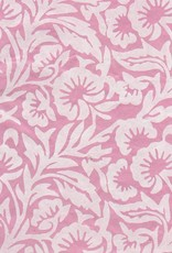 "Nepal Lokta White Floral on Pink, 20"" x 30"""