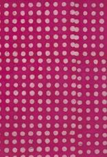 "Nepal Lokta Polka Dots Batik Magenta, 20"" x 30"""