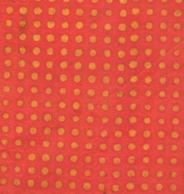 "Nepal Lokta Polka Dots Batik Orange, 20"" x 30"""