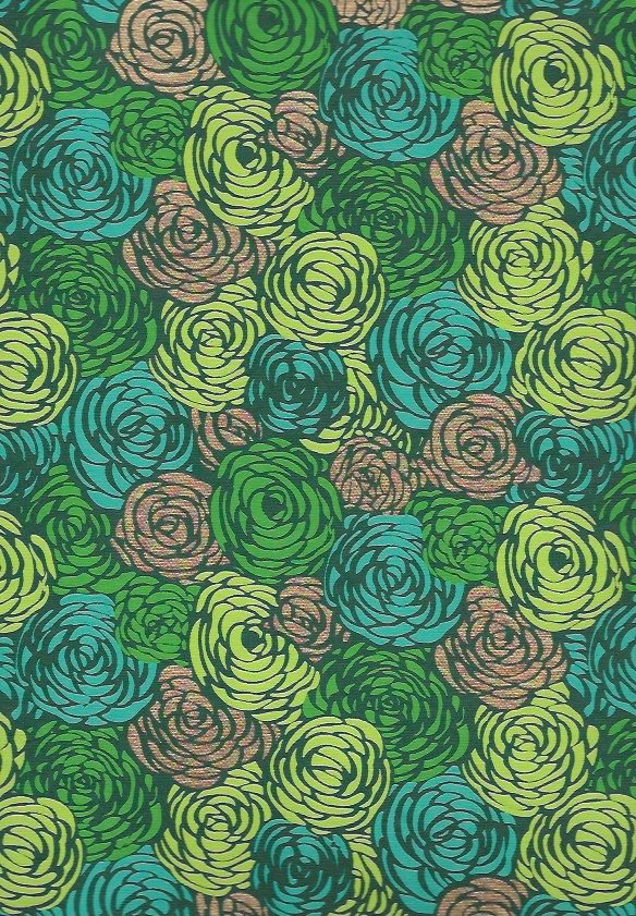 """India Green Mums on Green, 22"""" x 30"""""""
