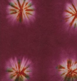 """Lokta Tie-Dyed Cranberry, 20"""" x 30"""""""