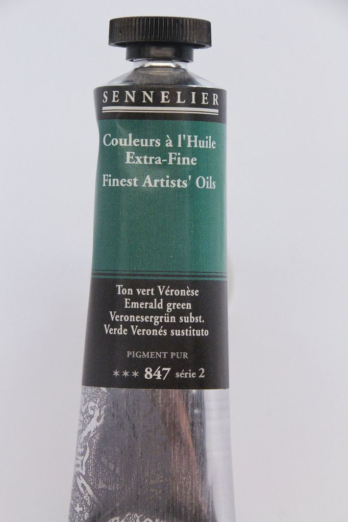 France Sennelier, Fine Artists' Oil Paint, Emerald Green, 847, 40ml Tube, Series 2