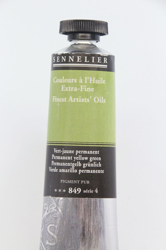 France Sennelier, Fine Artists' Oil Paint, Permanent Yellow Green, 849, 40ml Tube, Series 4