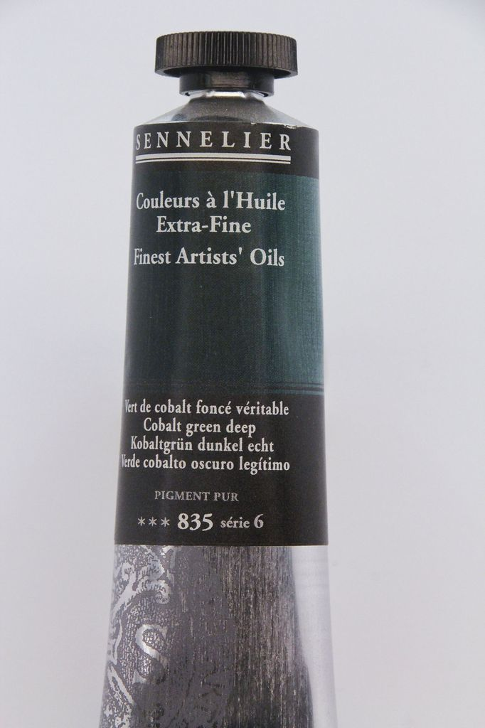 France Sennelier, Fine Artists' Oil Paint, Cobalt Green Deep, 835, 40ml Tube, Series 6