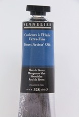 France Sennelier, Fine Artists' Oil Paint, Manganese Blue, 328, 40ml Tube, Series 3