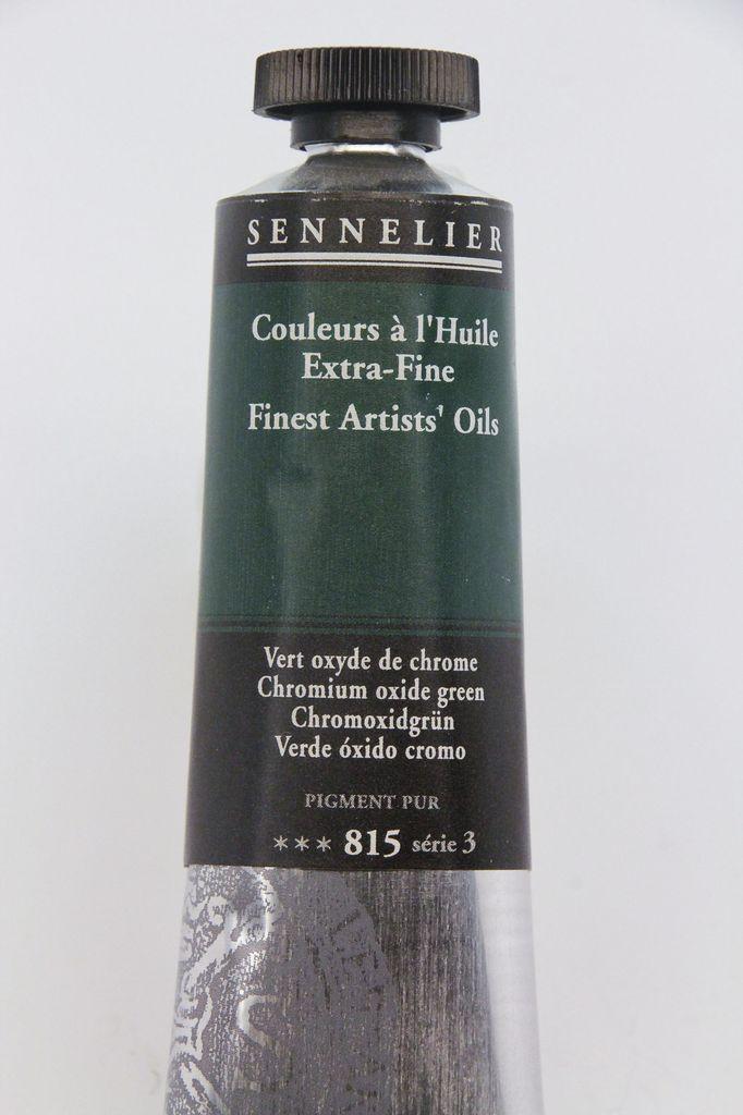 France Sennelier, Fine Artists' Oil Paint, Chromium Oxide Green, 815, 40ml Tube, Series 3