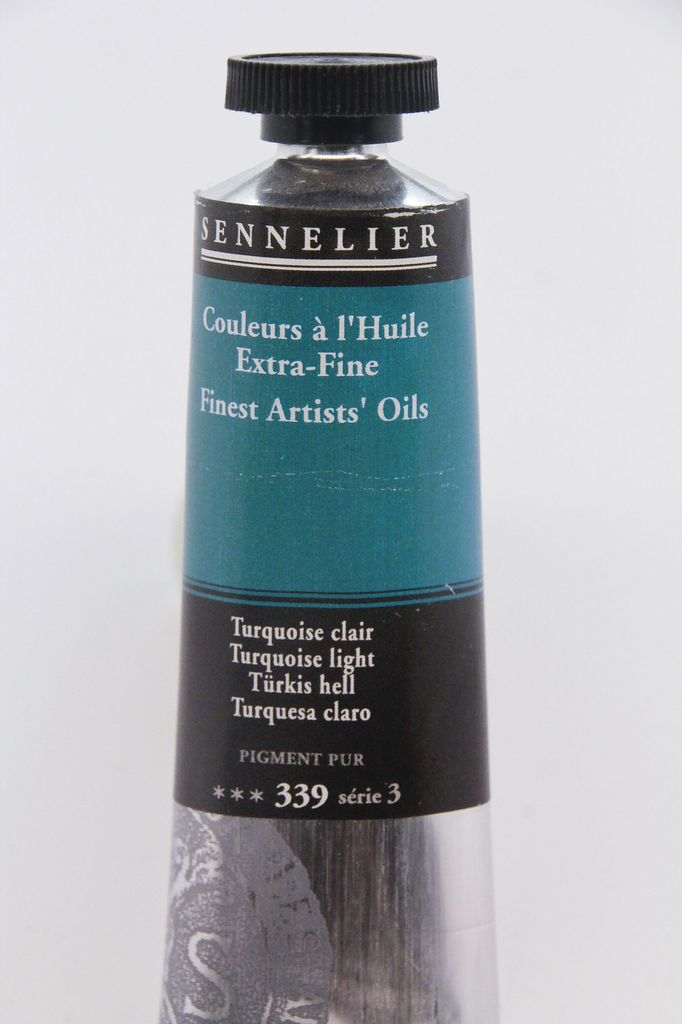 France Sennelier, Fine Artists' Oil Paint, Turquoise Light, 339, 40ml Tube, Series 3