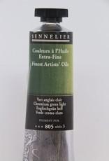 France Sennelier, Fine Artists' Oil Paint, Chromium Green Light, 805, 40ml Tube, Series 3