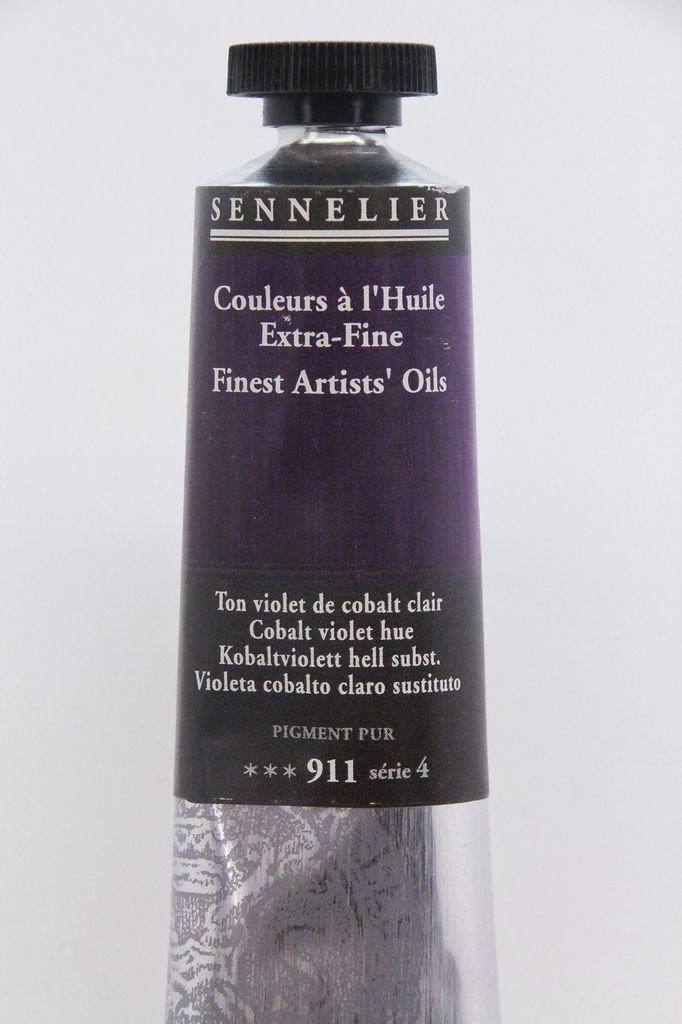 France Sennelier, Fine Artists' Oil Paint, Cobalt Violet Hue, 911, 40ml Tube, Series 4