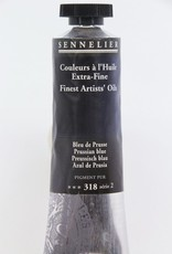France Sennelier, Fine Artists' Oil Paint, Prussian Blue, 318, 40ml Tube, Series 2